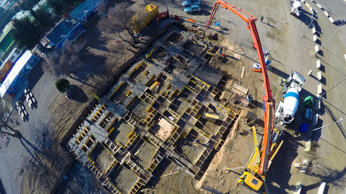 Progress of construction of the new Drop Zone facilities of Skydive Empuriabrava - The Land of the Sky